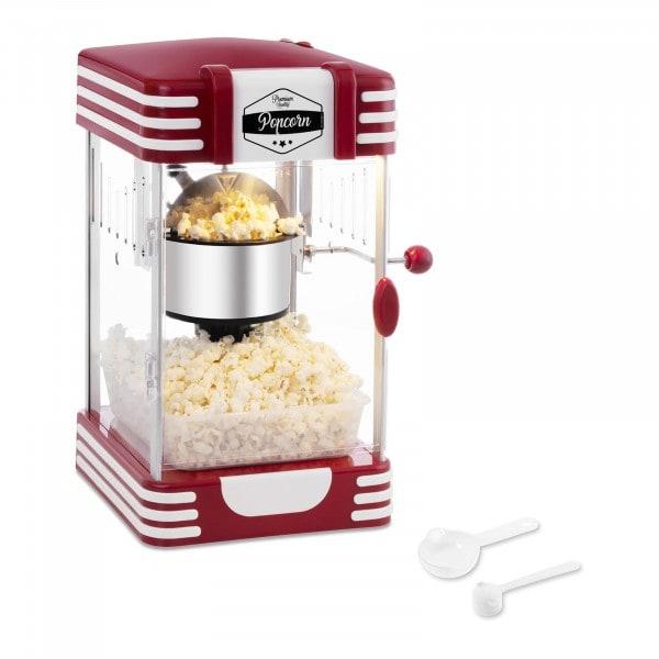 Kakkoslaatu Popcorn-kone - 50-luvun vintage-muotoilu - punainen