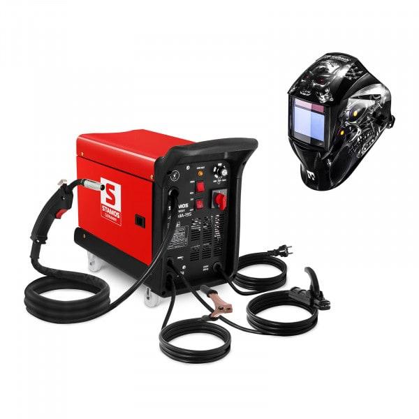 Hitsaussetti Yhdistelmähitsauskone - 195 A - 230 V - kannettava + Hitsausmaski – Metalator– EXPERT SERIES