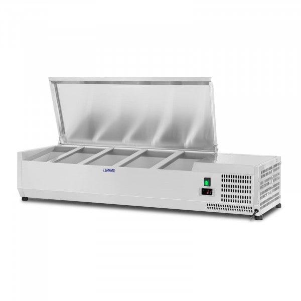 Kylmävitriini - 120 x 33 cm - 5 GN 1/4-astiaa