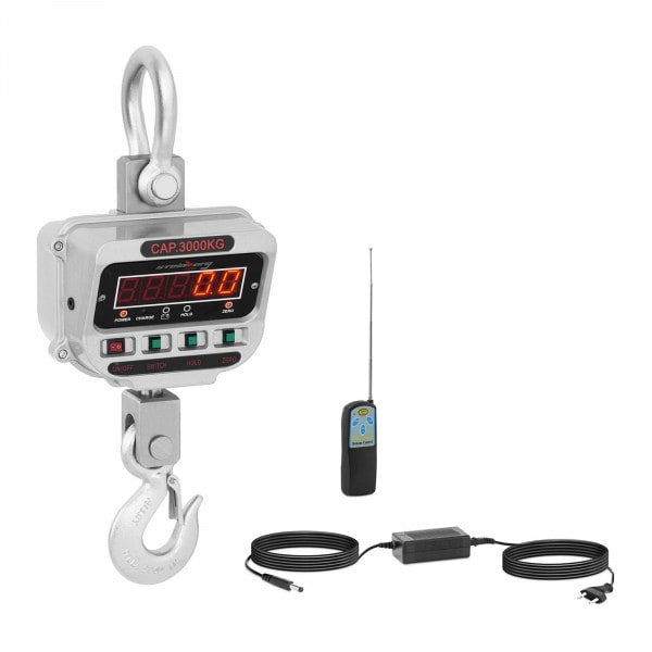 Koukkuvaaka - 3 t / 0,5 kg - LED