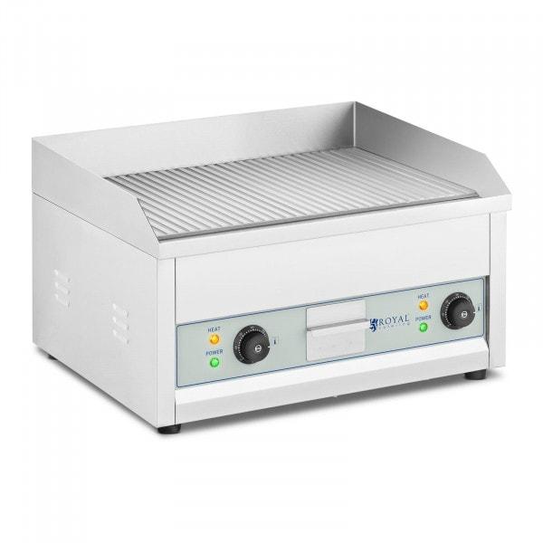 Kaksiosainen paistotaso - sähkökäyttöinen - 600 x 400 mm - Royal Catering - 2 x 2 500 W